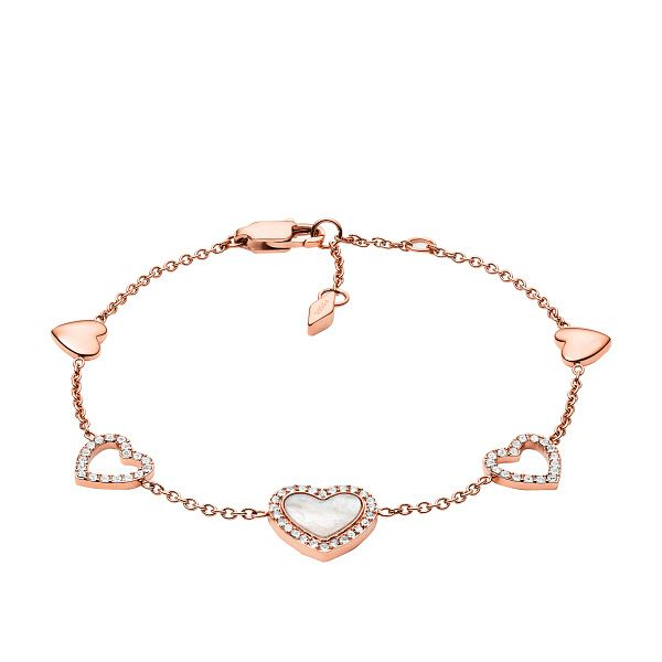 Fossil Hearts To You Rose Gold Tone Chain Bracelet - Product number 4240944