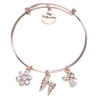Cailin Gold Plated Confirmation Charm Bangle - Product number 4241746