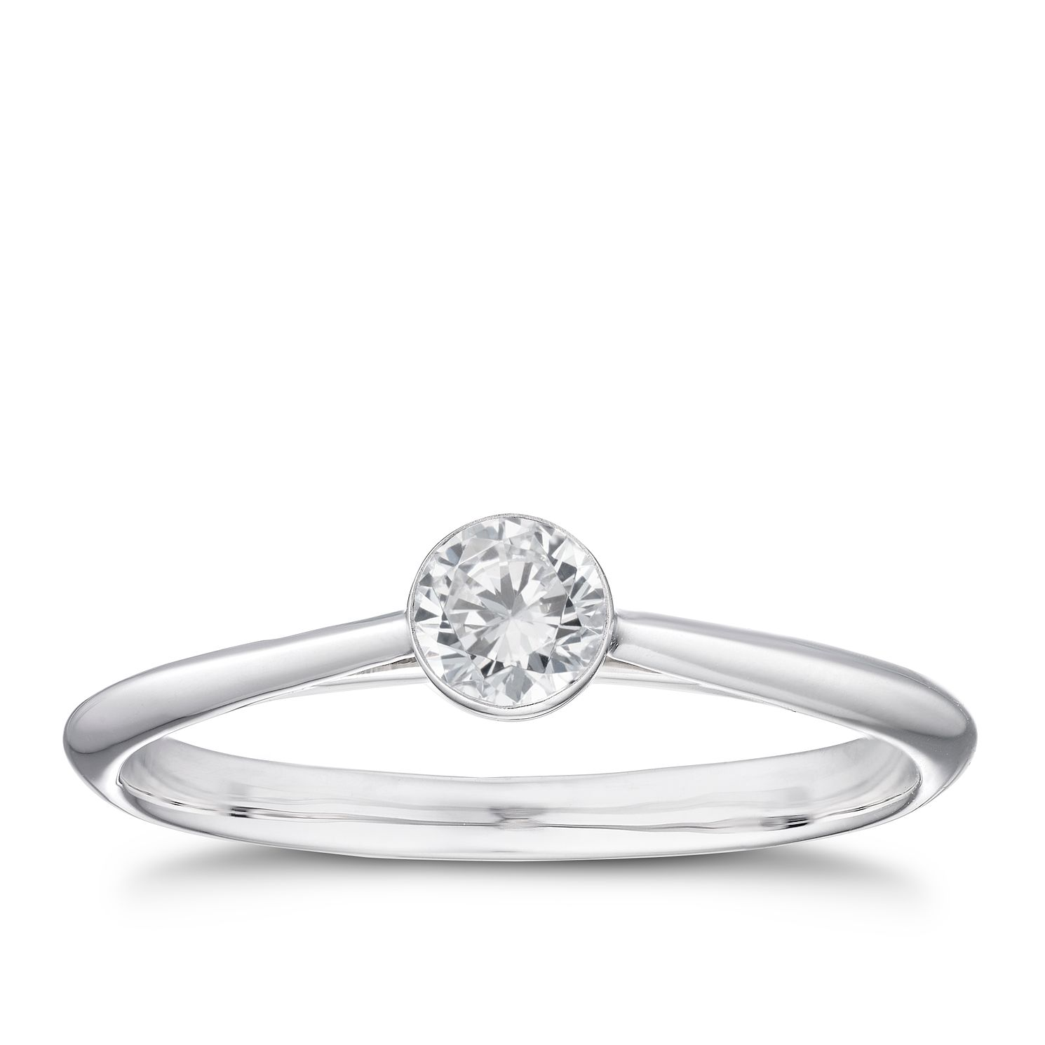 18ct White Gold 1/4ct Diamond Solitaire Ring - Product number 4241878