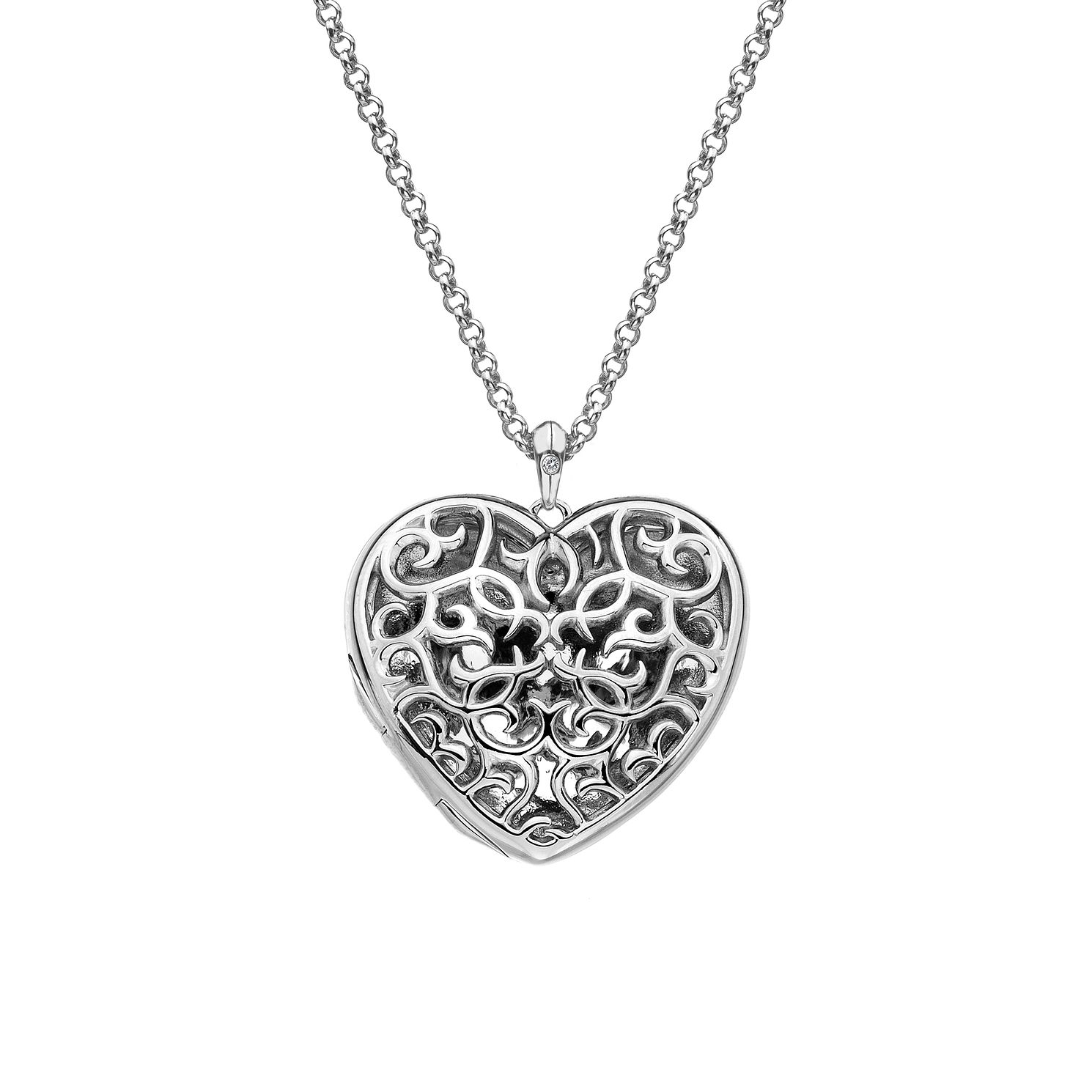 Hot Diamonds Sterling Silver Large Filigree Heart Locket - Product number 4241924