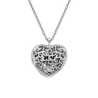Hot Diamonds Sterling Silver Diamond Filigree Heart Locket - Product number 4241924