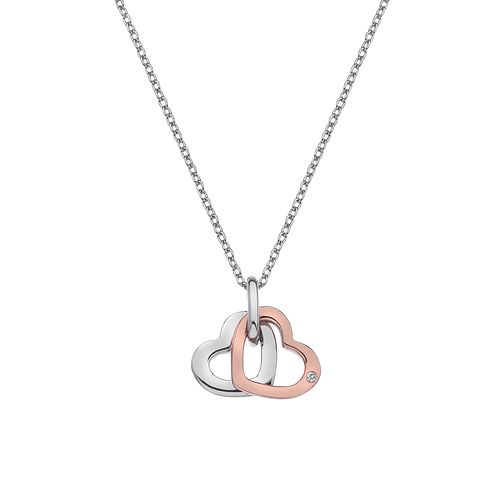 Hot Diamonds Silver & Rose Gold Open Heart Pendant - Product number 4242009