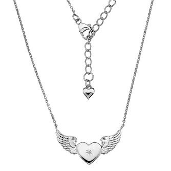 Lily & Lotty Silver Rhodium Plated Angel Wing Necklace - Product number 4242238