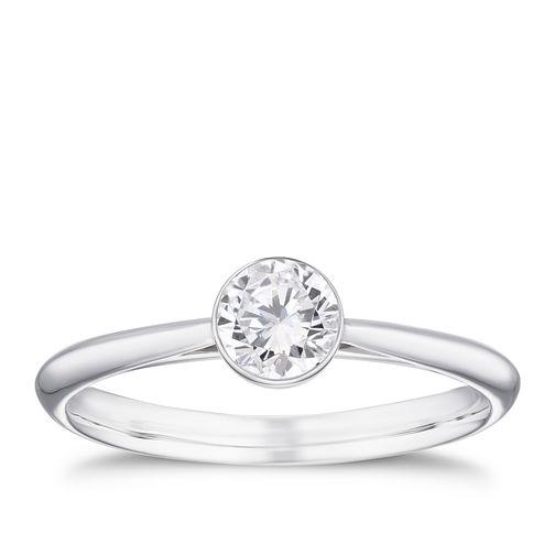 18ct White Gold 2/5ct Diamond Solitaire Ring - Product number 4242262