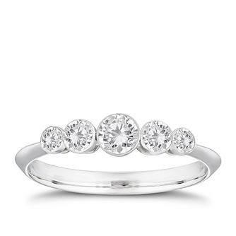 18ct White Gold 1/2ct Diamond Eternity Ring - Product number 4242394
