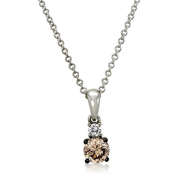 Le Vian 14ct Vanilla Gold Chocolate Diamond Pendant - Product number 4242513