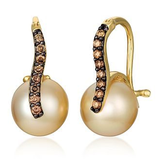 Le Vian 14ct Honey Gold & Golden Pearl Earrings - Product number 4242521