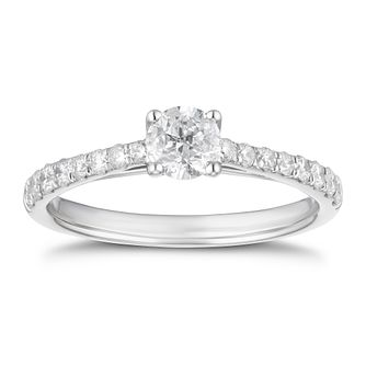 Platinum 3/4ct Diamond Ring - Product number 4242815