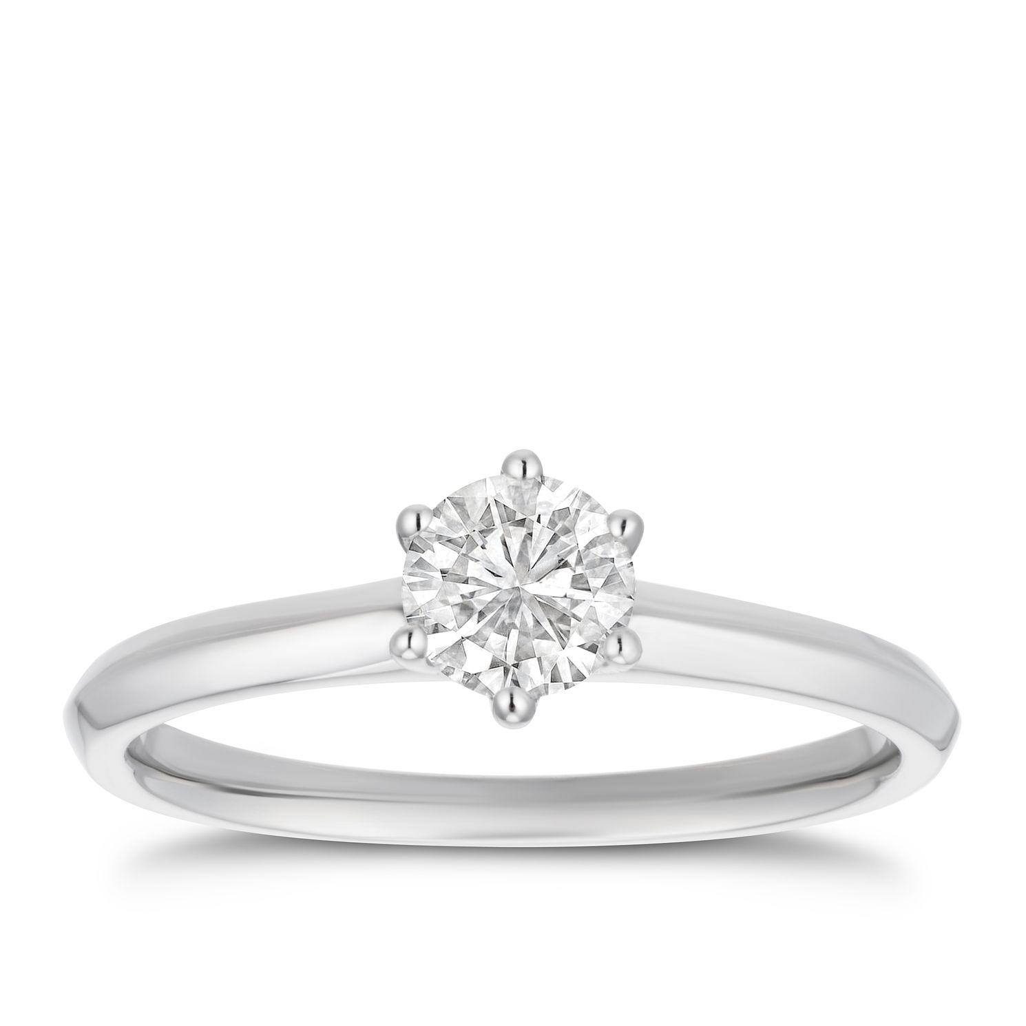 Platinum 1/2ct Diamond Solitaire Ring - Product number 4243633