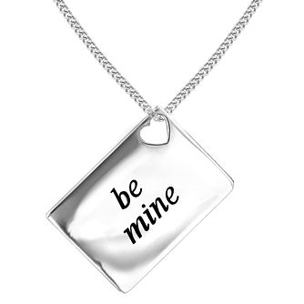 Lily & Lotty Silver Rhodium Plated 'Be Mine' Pendant - Product number 4243854