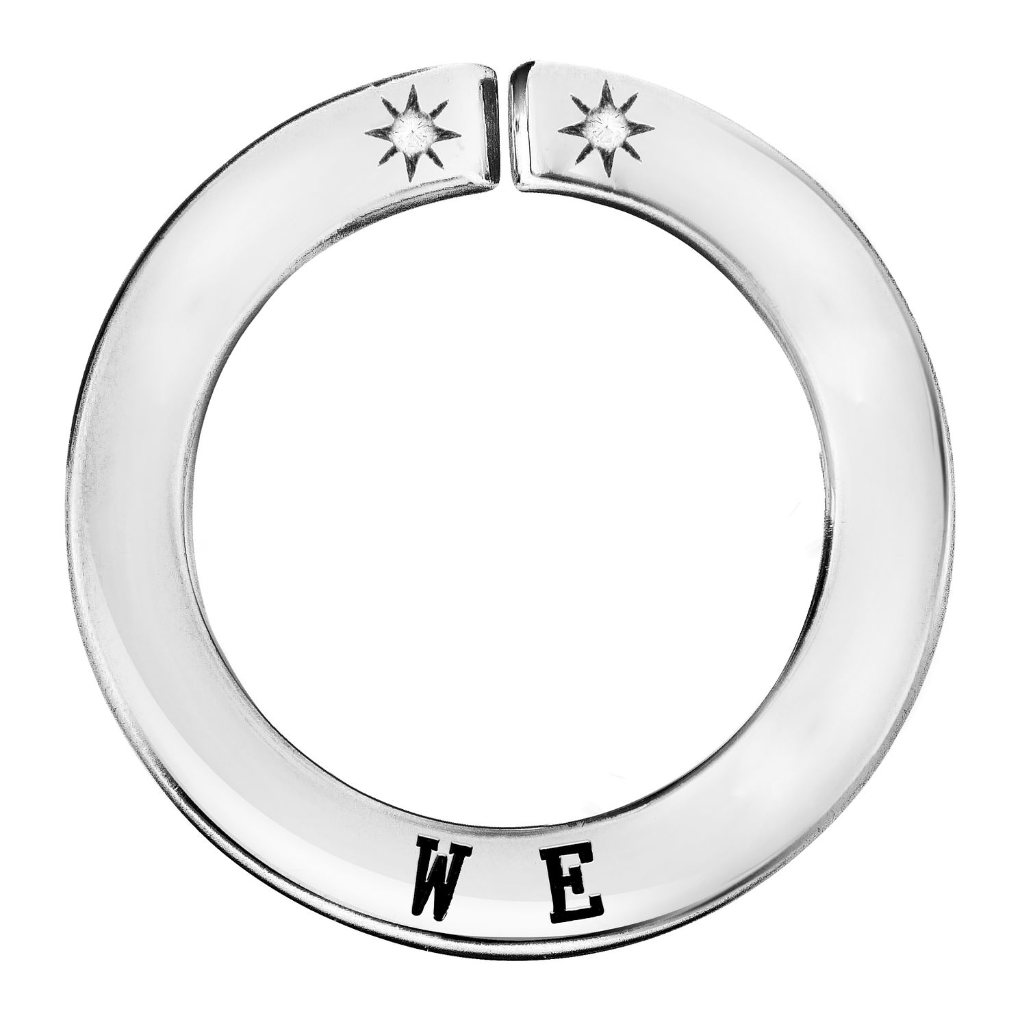 Lily & Lotty Silver Rhodium Plated 'We' Pendant - Product number 4244559