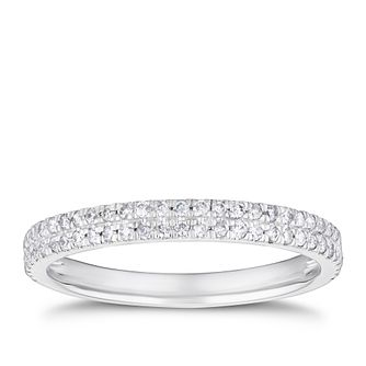 Platinum 3/10ct Diamond 2 Rows Eternity Ring - Product number 4244575