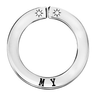 Lily & Lotty Silver Rhodium Plated 'My' Pendant - Product number 4244648