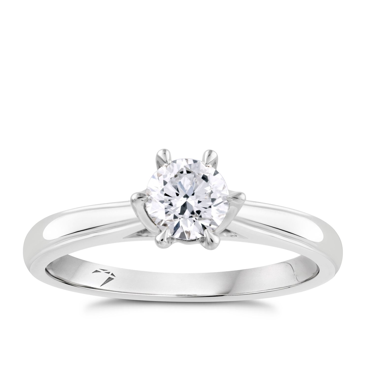 Arctic Light Platinum 1/2ct Diamond Solitaire Ring - Product number 4245156