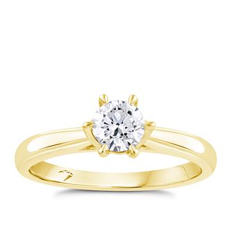 Arctic Light 18ct Yellow Gold 1/2ct Diamond Solitaire Ring - Product number 4245377
