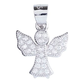 Cailin Sterling Silver Cubic Zirconia Angel Pendant - Product number 4245490