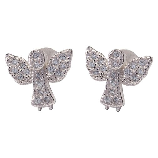 Cailin Sterling Silver Cubic Zirconia Angel Earrings - Product number 4245644
