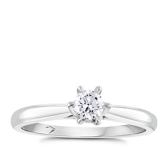 Arctic Light 18ct White Gold 1/4ct Diamond Solitaire Ring - Product number 4246012