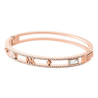 Michael Kors Ladies' Rose Gold Tone Logo Bangle - Product number 4246551