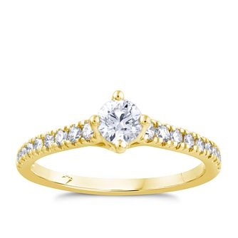 Arctic Light 18ct Yellow Gold 1/2ct Diamond Ring - Product number 4246713