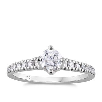 Arctic Light Platinum 0.75ct Total Diamond Ring - Product number 4247094
