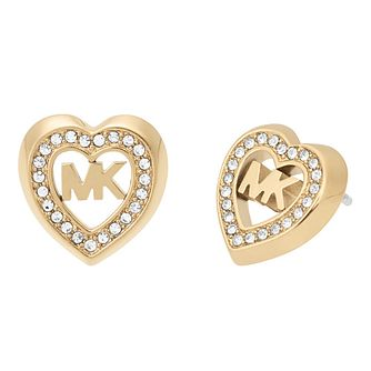 Michael Kors Ladies' Yellow Gold Tone Stone Set Earrings - Product number 4247221