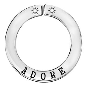 Lily & Lotty Silver Rhodium Plated 'Adore' Pendant - Product number 4247310