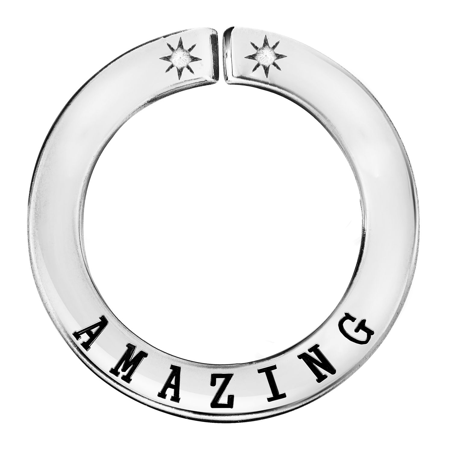 Lily & Lotty Silver Rhodium Plated 'Amazing' Pendant - Product number 4247337
