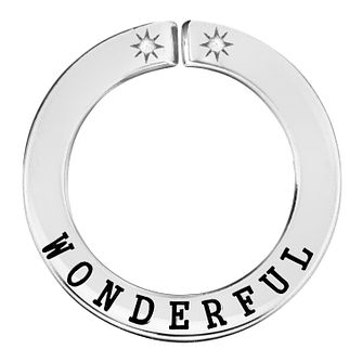 Lily & Lotty Silver Rhodium Plated 'Wonderful' Pendant - Product number 4247361