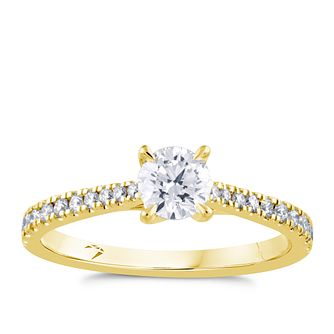 Arctic Light 18ct Yellow Gold 0.66ct Total Diamond Ring - Product number 4247825