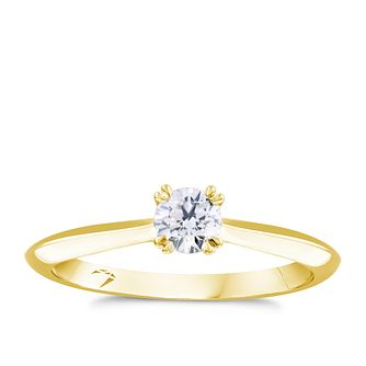 Arctic Light 18ct Yellow Gold 0.30ct Diamond Solitaire Ring - Product number 4248139