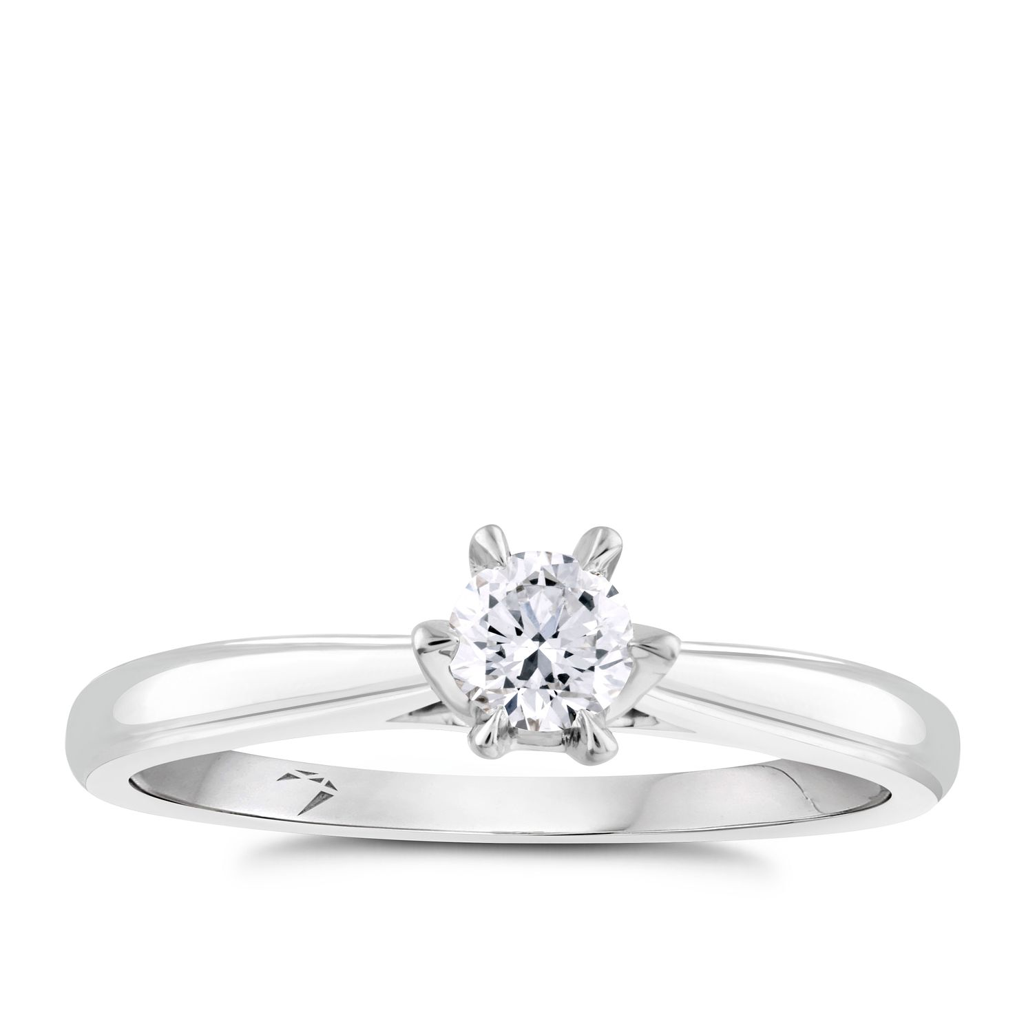 Arctic Light Platinum 0.25ct Diamond Solitaire Ring - Product number 4248694