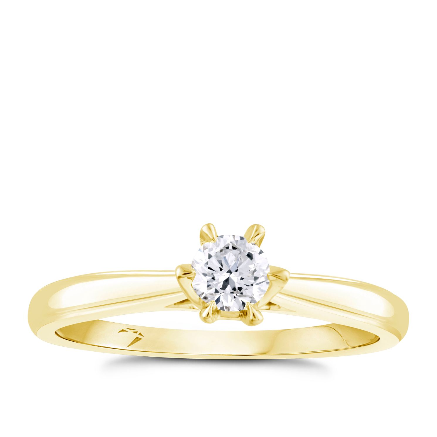 Arctic Light 18ct Yellow Gold 1/4ct Diamond Solitaire Ring - Product number 4249232