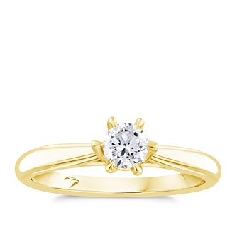 Arctic Light 18ct Yellow Gold 0.30ct Diamond Solitaire Ring - Product number 4249739