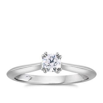 Arctic Light Platinum 0.20ct Diamond Solitaire Ring - Product number 4249992