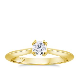 Arctic Light 18ct Yellow Gold 1/5ct Diamond Solitaire Ring - Product number 4250192