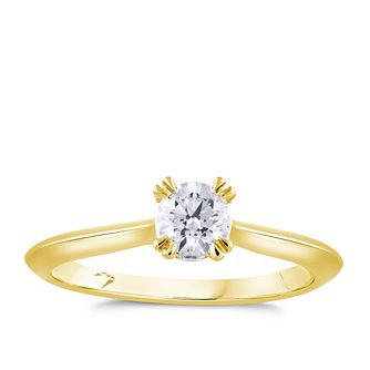 Arctic Light 18ct Yellow Gold 2/5ct Diamond Solitaire Ring - Product number 4250850