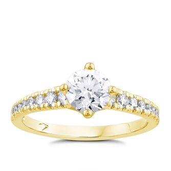 Arctic Light 18ct Yellow Gold 1ct Total Diamond Ring - Product number 4252349