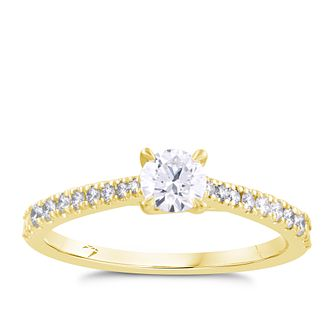Arctic Light 18ct Yellow Gold 1/2ct Diamond Ring - Product number 4252640