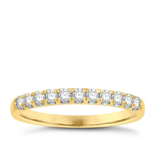 Eternal Brilliance 18ct Yellow Gold 0.25ct Wedding Ring - Product number 4252675