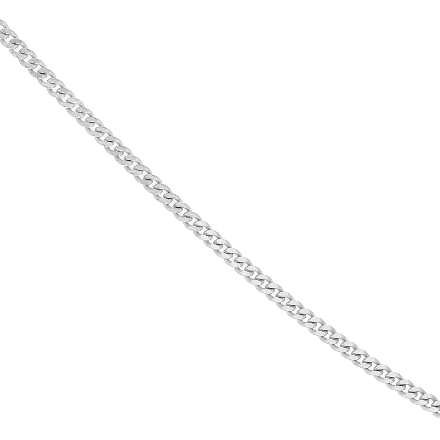 9ct White Gold 18 Inch Curb Chain - Product number 4255682