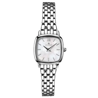 Accurist Ladies' Tonneau Dial Silver Tone Bracelet Watch - Product number 4257014