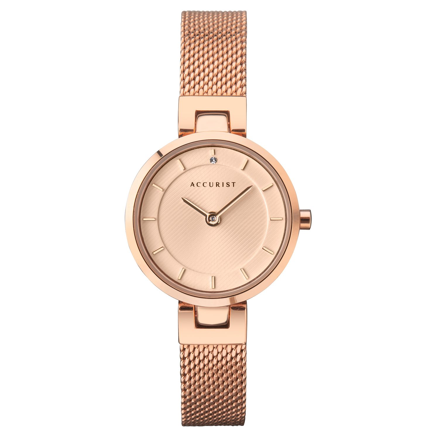 Accurist Ladies' Rose Gold Tone Mesh Bracelet Watch - Product number 4257022