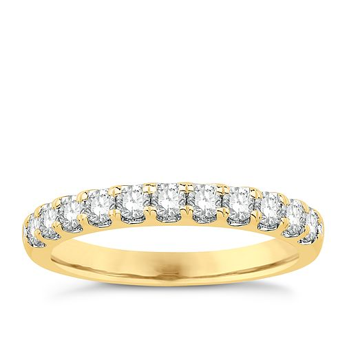 Eternal Brilliance 18ct Yellow Gold 0.50ct Wedding Ring - Product number 4258533
