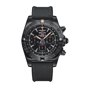 Breitling Chronomat 44 Blacksteel Men's Rubber Strap Watch - Product number 4261240