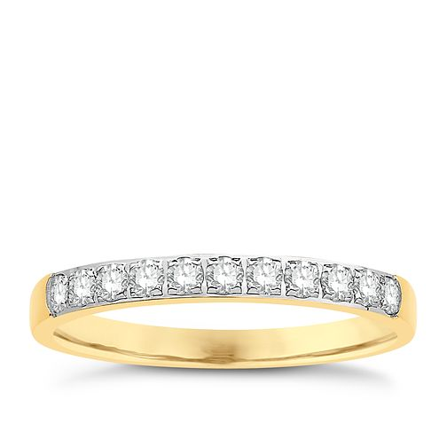 Eternal Brilliance 18ct Yellow Gold 0.25ct Wedding Ring - Product number 4261364