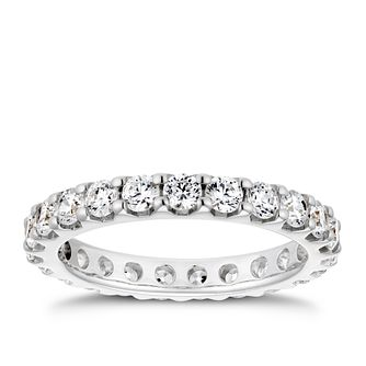 Platinum 1.5ct Diamond Eternity Ring - Product number 4262573