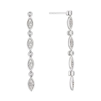 Sterling Silver 1/4ct Diamond Fancy Drop Earrings - Product number 4263197