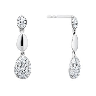 Sterling Silver 0.15ct Diamond Drop Earrings - Product number 4263332