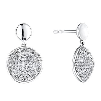 Sterling Silver 1/4ct Diamond Round Drop Earrings - Product number 4263359